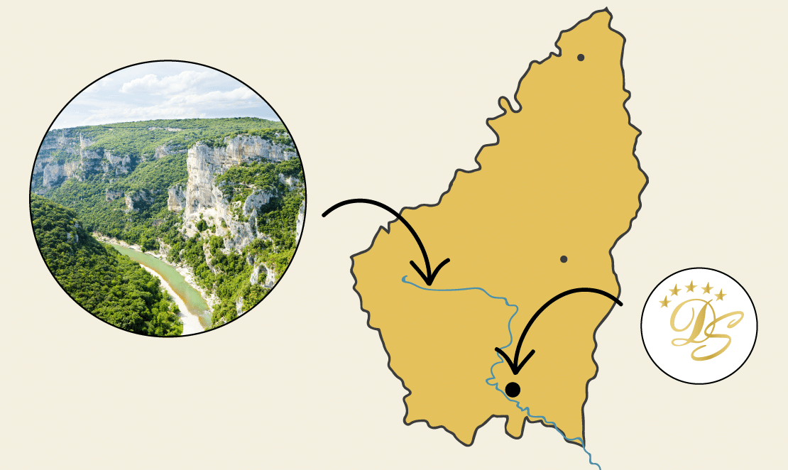 map ardeche domaine Sevenier - map-ardeche-domaine-Sevenier