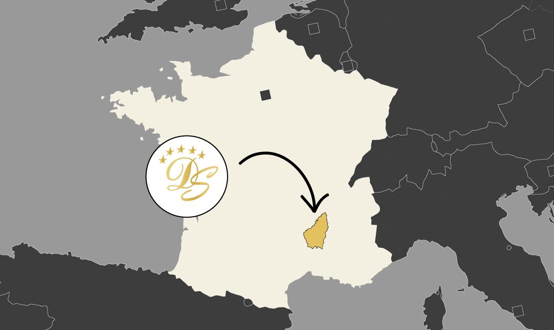 map france domaine sevenier - map-france-domaine-sevenier