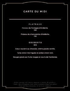carte du midi desserts 232x300 - Bar Glacier Restaurant