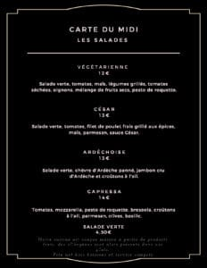 carte du midi salades 232x300 - Bar Glacier Restaurant