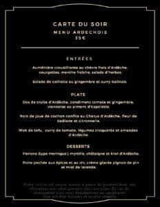 carte du soir 232x300 - Bar Glacier Restaurant
