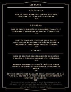 cartes plats 232x300 - Bar Glacier Restaurant